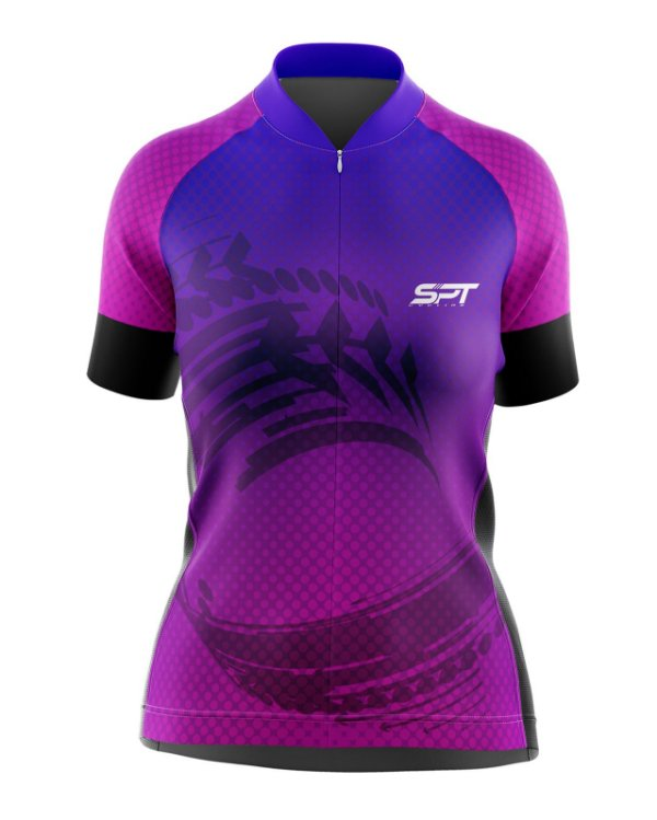 Camisa de Ciclismo Manga Curta Feminina Proteção Solar FPU 50+ Marca SPT - 02
