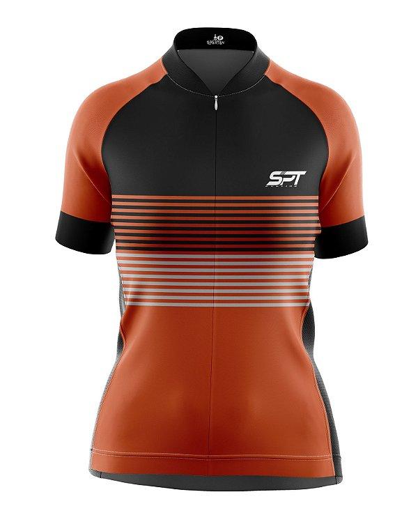 Camisa de Ciclismo Manga Curta Feminina Proteção Solar FPU 50+ Marca SPT - 06