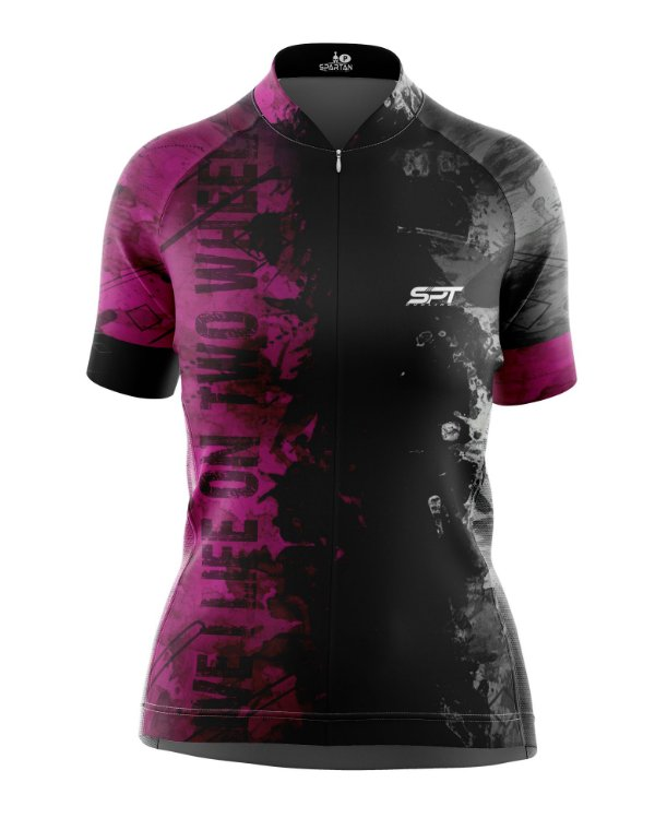 Camisa de Ciclismo Manga Curta Feminina Proteção Solar FPU 50+ Marca SPT - 07