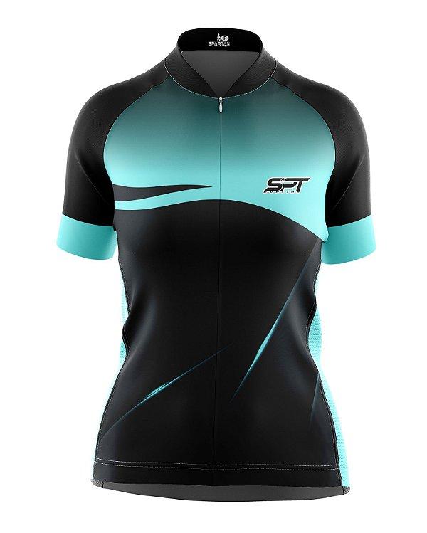 Camisa de Ciclismo Manga Curta Feminina Proteção Solar FPU 50+ Marca SPT - 12