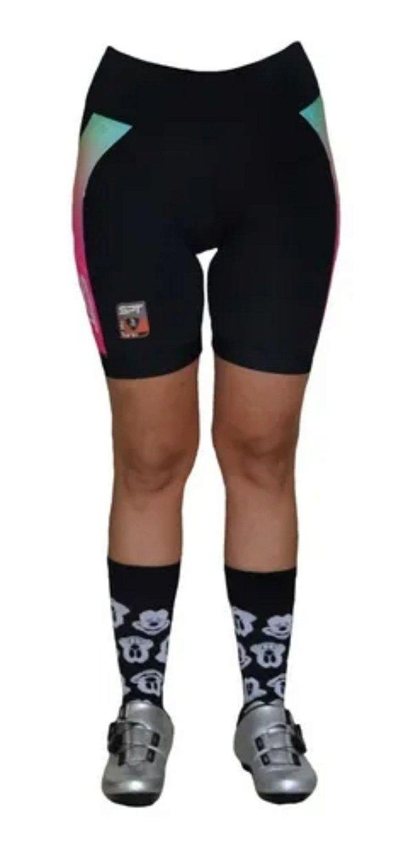 Bermuda Ciclismo Ciclista Short  Forro Gel Feminina Ref 01