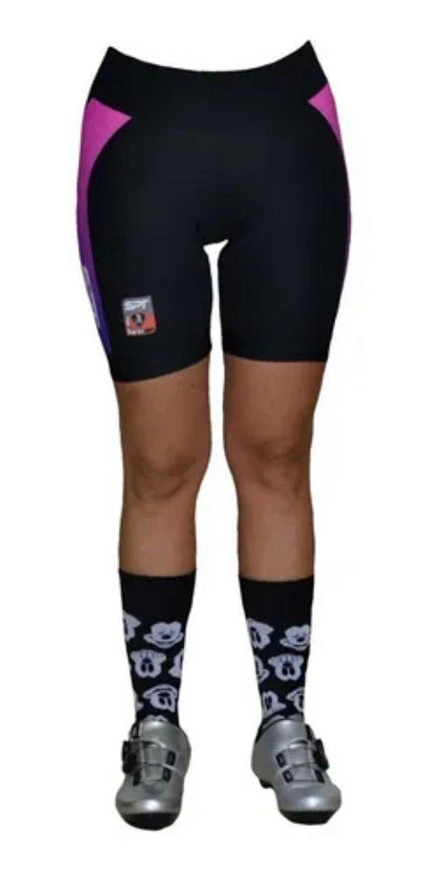 Bermuda Ciclismo Ciclista Short  Forro Gel Feminina Ref 02