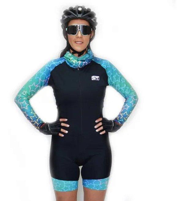 Macaquinho De Ciclismo Feminino Spt Ref 10 M/ L Forro Em Gel