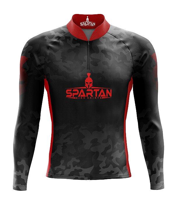 Camisa de Ciclismo Manga Longa Proteção Solar FPU 50+ Marca Spartan Ref. 02