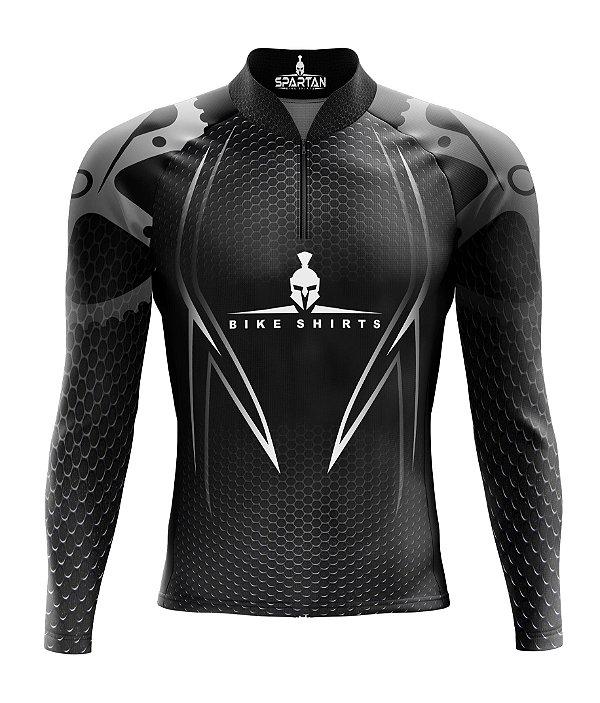 Camisa de Ciclismo Manga Longa Proteção Solar FPU 50+ Marca Spartan Ref. 08