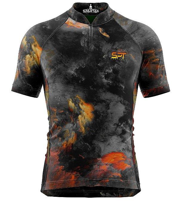 Camisa de Ciclismo Manga Curta Proteção Solar FPU 50+ Marca Spartan Coleção W Ref. 07