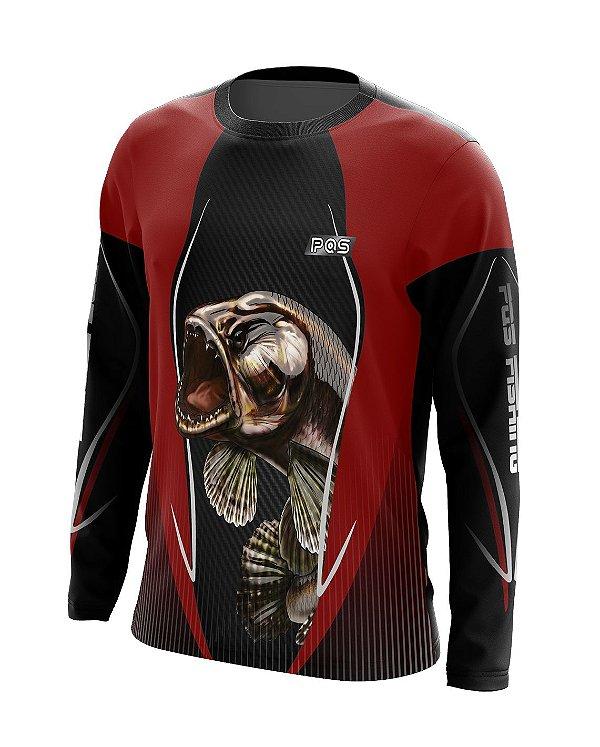Camisa de Pesca Gola Redonda Ref. 04 Estampa Trairão
