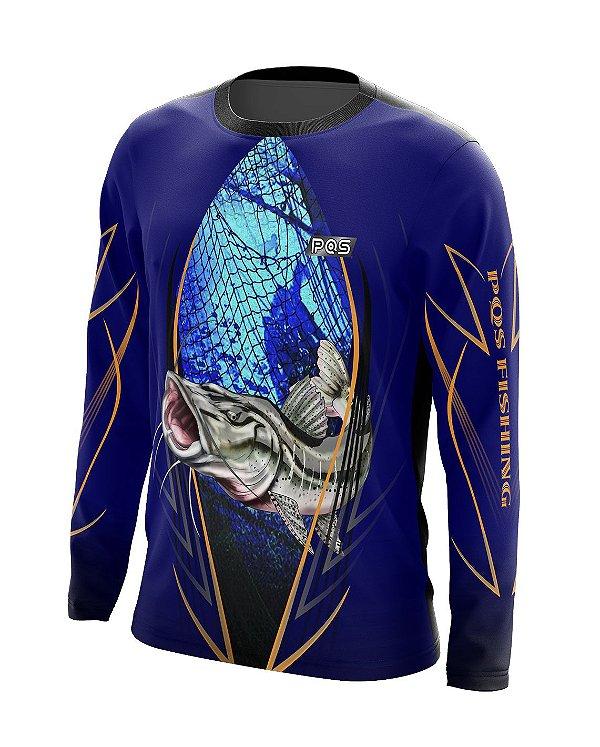 Camisa de Pesca Gola Redonda Ref. 05 Estampa Pintado