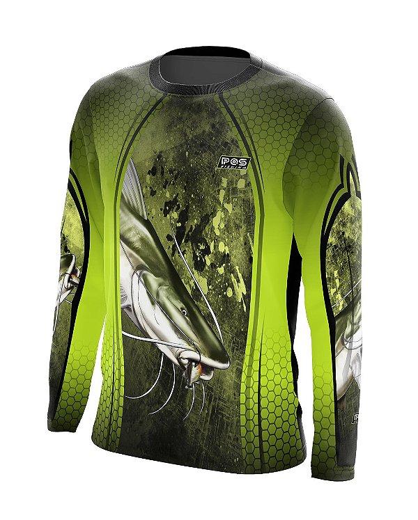 Camisa de Pesca Gola Redonda Ref. 11 Estampa Piraiba