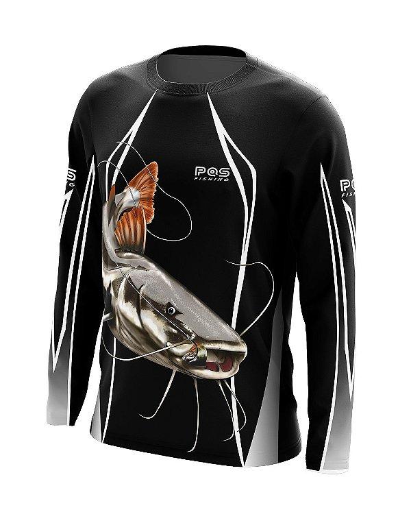 Camisa de Pesca Gola Redonda Ref. 12 Estampa Pirarara