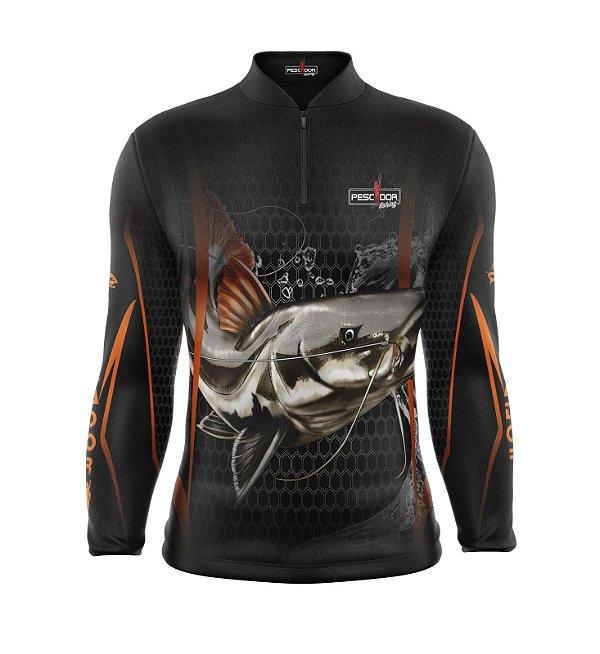 Camisa de Pesca Manga Longa Proteção Solar FPU 50+ Marca Pescador Fishing Coleção 2019/2020 Ref. 02