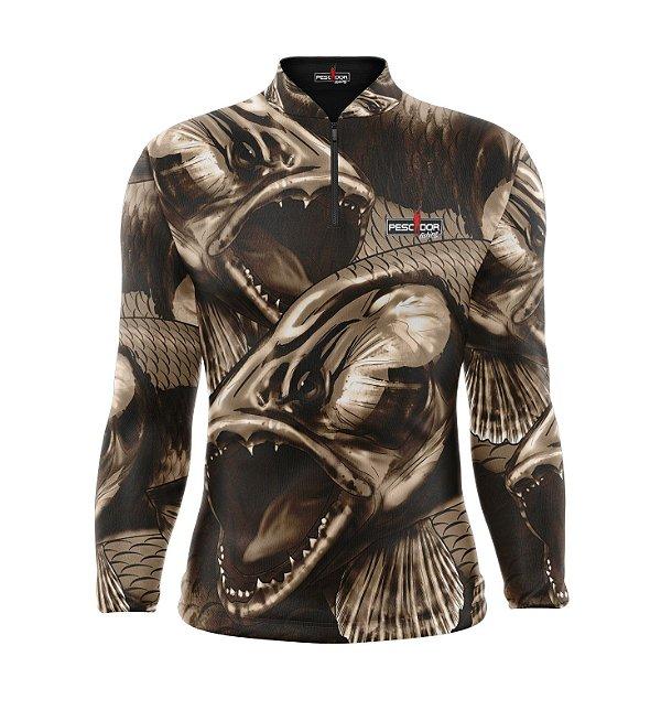 Camisa de Pesca Manga Longa Proteção Solar FPU 50+ Marca Pescador Fishing Coleção 2019/2020 Ref. 07