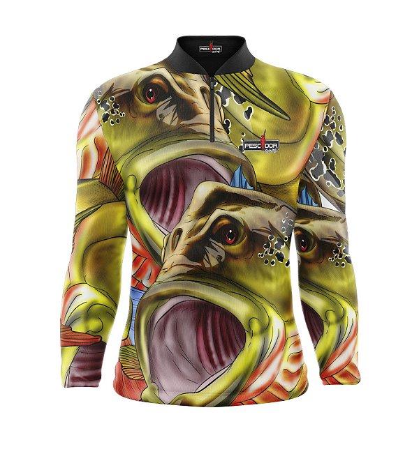 Camisa de Pesca Manga Longa Proteção Solar FPU 50+ Marca Pescador Fishing Coleção 2019/2020 Ref. 08