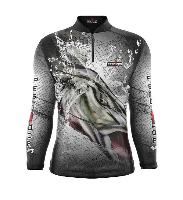 Camisa de Pesca Manga Longa Proteção Solar FPU 50+ Marca Pescador Fishing Coleção 2019/2020 Ref. 09