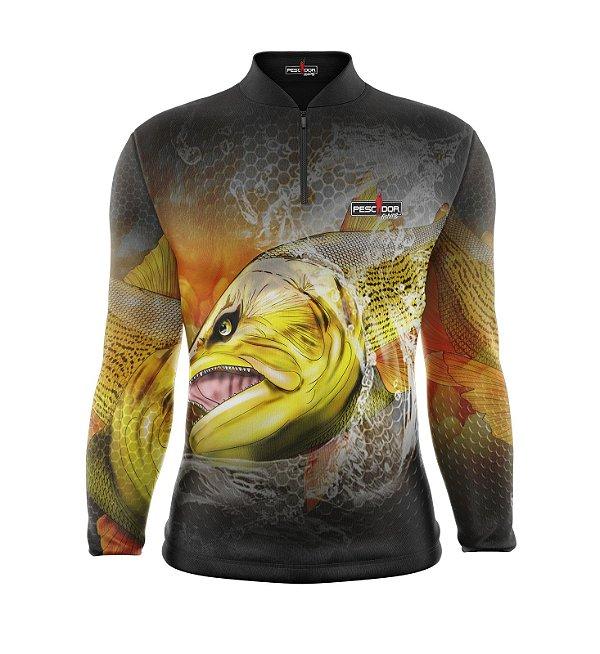 Camisa de Pesca Manga Longa Proteção Solar FPU 50+ Marca Pescador Fishing Coleção 2019/2020 Ref. 10