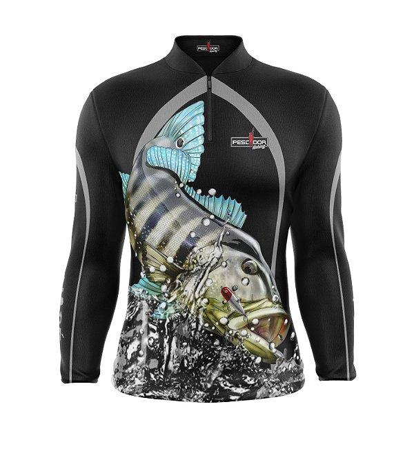 Camisa de Pesca Manga Longa Proteção Solar FPU 50+ Marca Pescador Fishing Coleção 2019/2020 Ref. 13