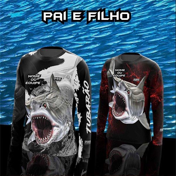 Camisa de Pesca Gola Redonda Personalizada Pai e Filho