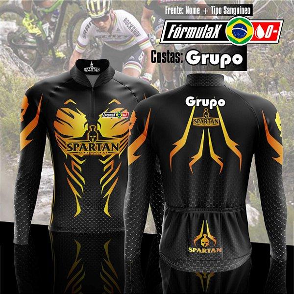 Kit Camisa de Ciclismo Manga Longa Personalizada Grupo (5 peças)