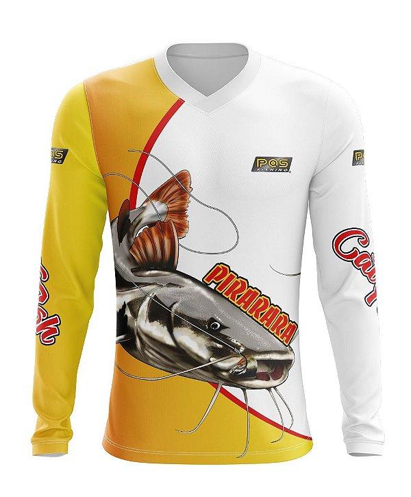 Camisa de Pesca Gola V Ref. 09 Estampa Pirarara