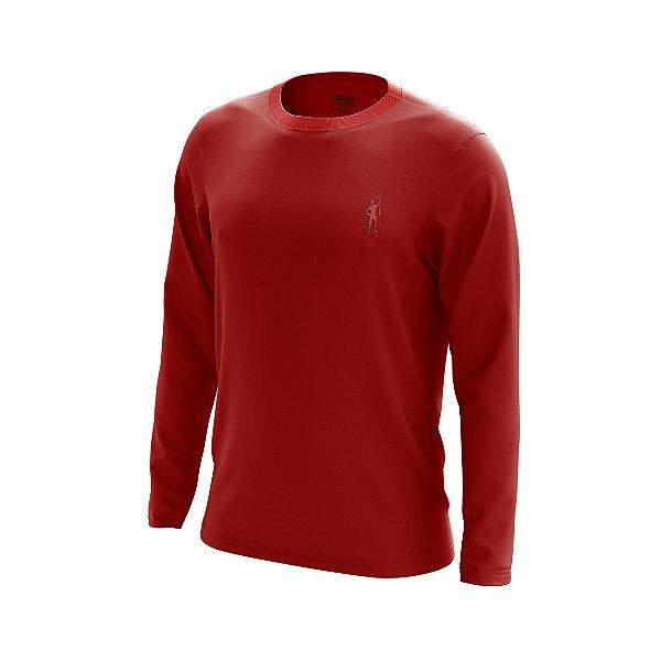 Camisa Segunda Pele Manga Longa Proteção Solar FPU 50+ Marca Pescador – Vermelho