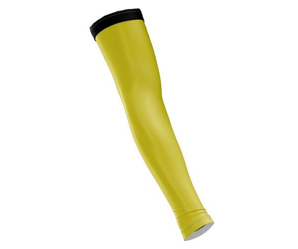 Manguito Liso Ciclismo Spartan Proteção Solar UV50+ (Protetor Para Braço Unissex) Ref. 03 Amarelo