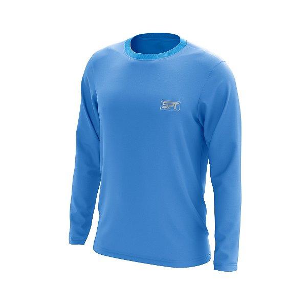 Camisa Camiseta Segunda Pele Manga Longa Proteção Solar FPU 50+ Marca Spartan – Azul Celeste