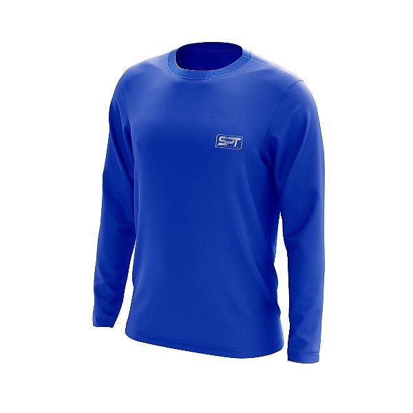 Camisa Segunda Pele Manga Longa Proteção Solar FPU 50+ Marca Spartan – Azul Royal