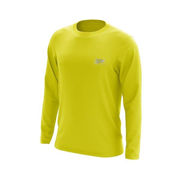 Camisa Segunda Pele Manga Longa Proteção Solar FPU 50+ Marca Pescador Fishing – Amarelo