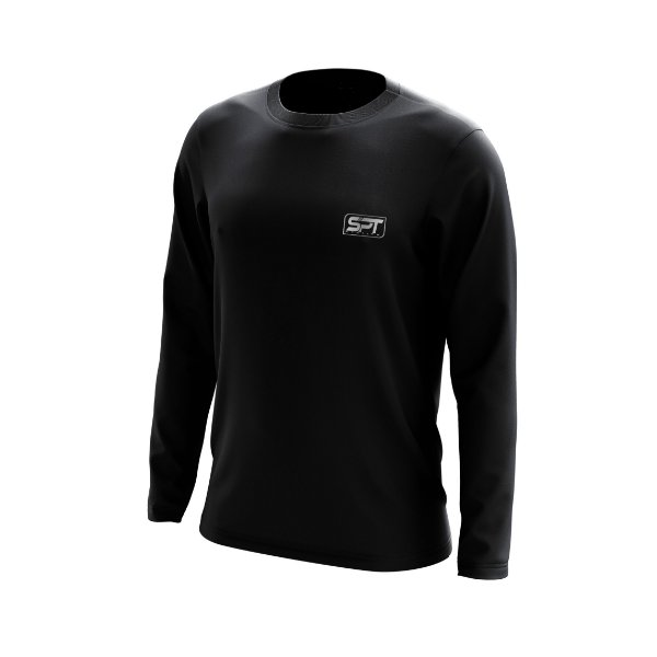 Camisa Segunda Pele Manga Longa Proteção Solar FPU 50+ Marca Spartan – Preto