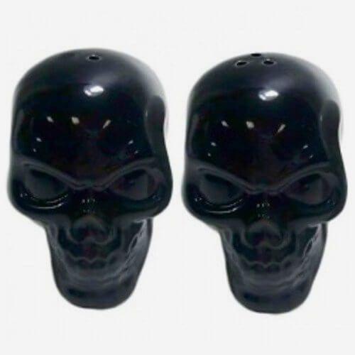 Saleiro e Pimenteiro Skull Preto