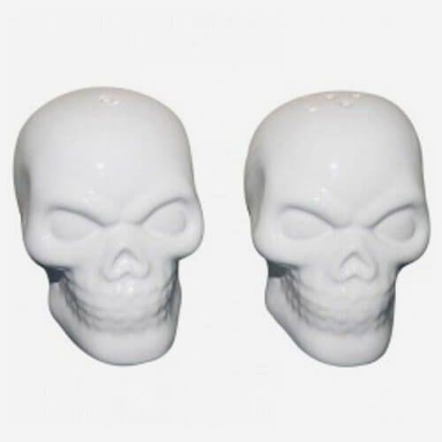 Saleiro e Pimenteiro Skull Branco