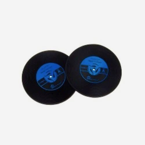 Porta Copos Disco de Vinil Azul