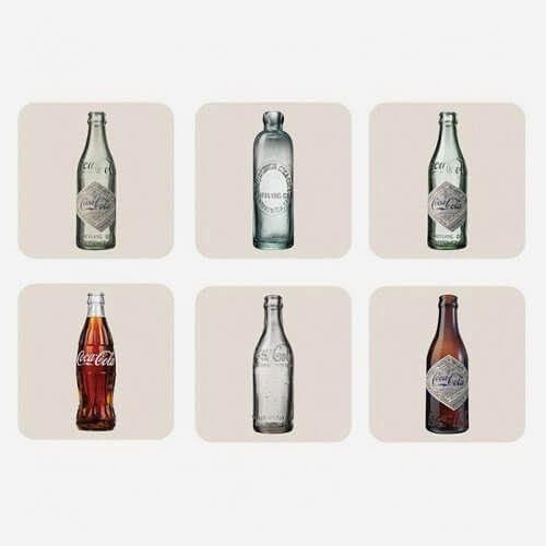 Porta Copos Coca Cola Bottles