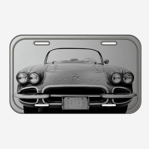 Placa Decorativa de Metal Corvette