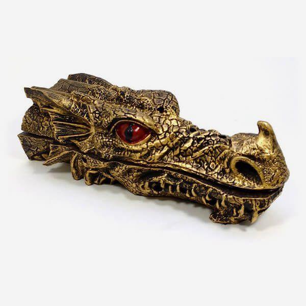 Porta Incenso Dragão Dourado