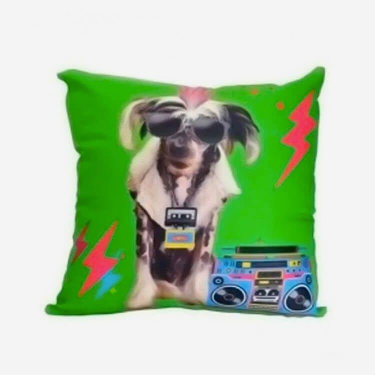 Almofada Cachorro Punk