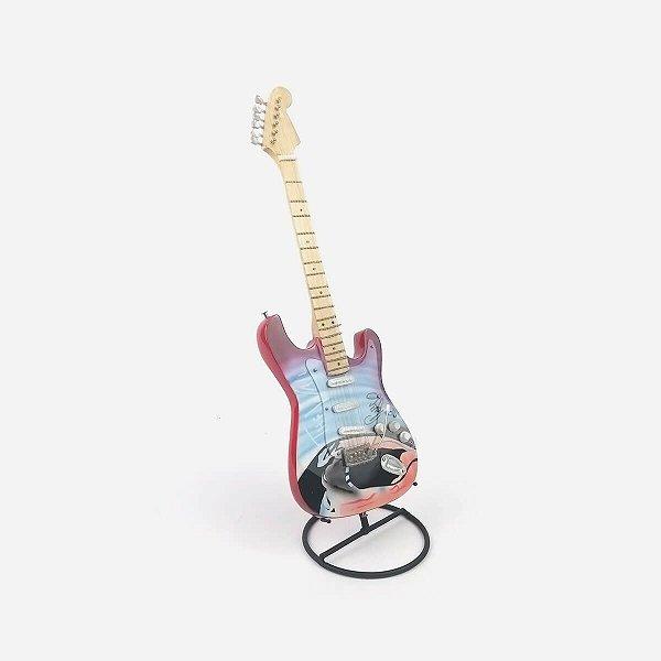 Guitarra Decorativa Pink Floyd