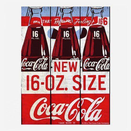 Placa Coca Cola Bottle Retro
