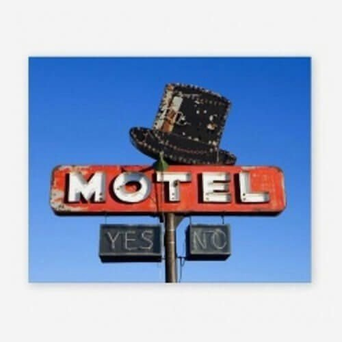 Quadro Motel Yes or No Colorida
