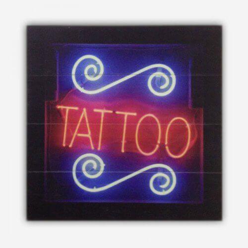 Quadro de Madeira Tattoo