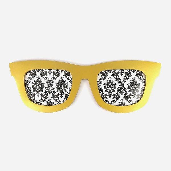 Porta Retrato Óculos Dourado