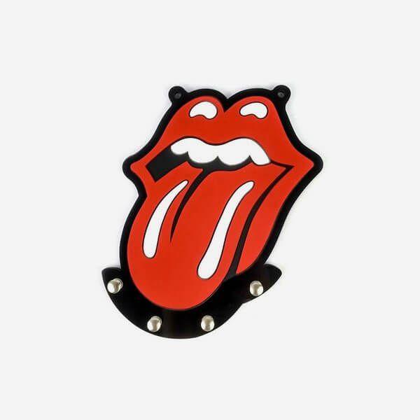 Porta Chave de Borracha Rolling Stones