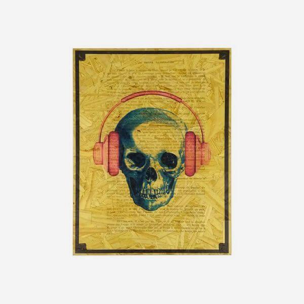 Quadro Caveira Headphone