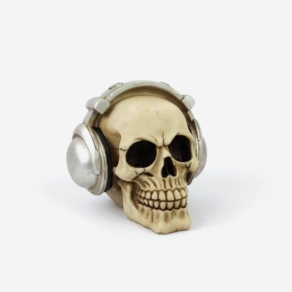 Caveira Decorativa Headphone