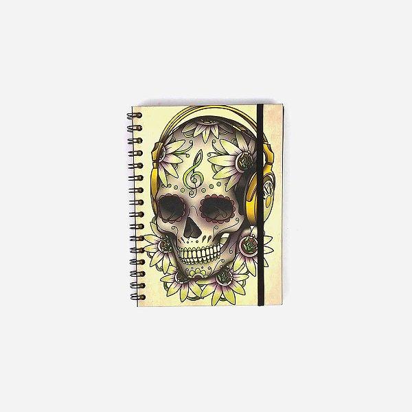 Caderno Caveira Headphone