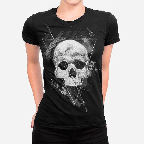 Camiseta Feminina Skull Triangle