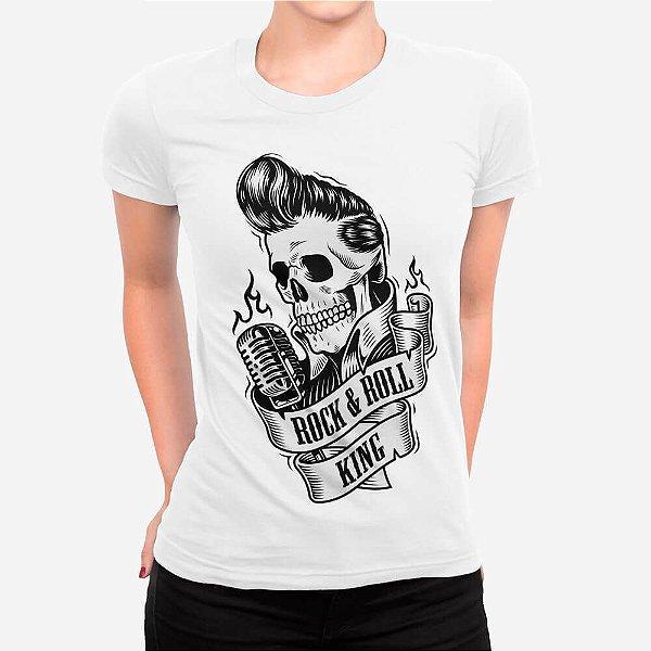 Camiseta Feminina Rei do Rock