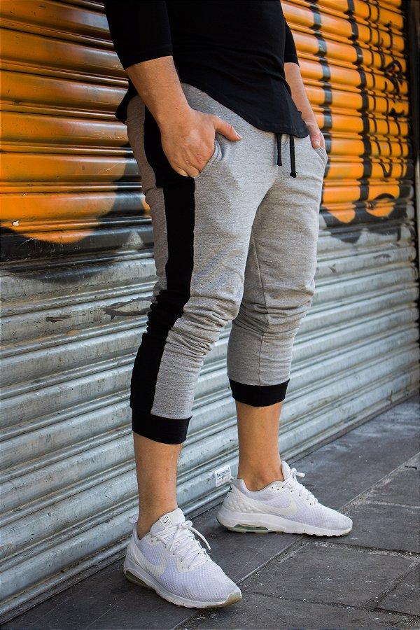 Calça jogger em moletom masculina slim