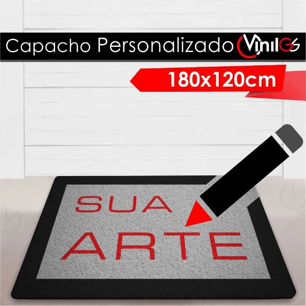 Tapete Capacho Personalizado Vinil-GS - 180x120cm