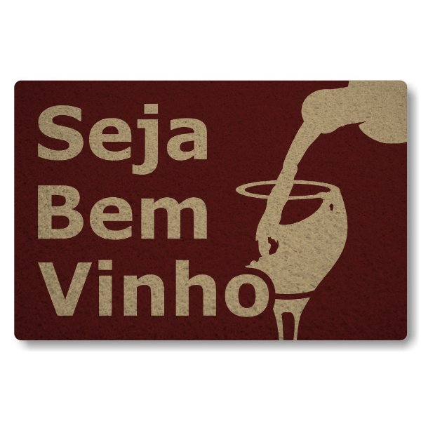 Tapete Capacho Seja Bem-Vinho - Bordo